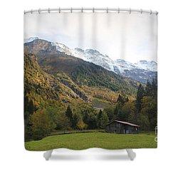 Autumn In The Lauterbrunnen Valley, Switzerland Shower Curtain