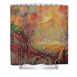Autumn In The Shire Bag End Shower Curtain by Joe  Gilronan