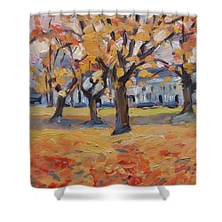 Autumn In The Villa Park Maastricht Shower Curtain