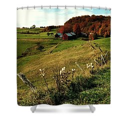 Autumn In Vermont  Shower Curtain