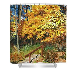 Autumn Invitation Shower Curtain