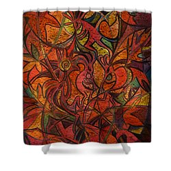 Autumn Kokopelli Shower Curtain