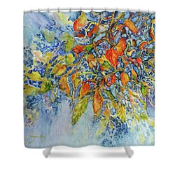 Shower Curtain featuring the painting Autumn Lace by Joanne Smoley