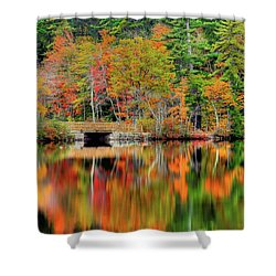 Autumn Lake Chocorua Shower Curtain