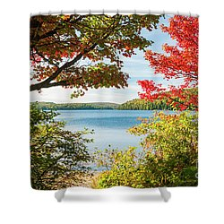 Shower Curtain featuring the photograph Autumn Lake by Elena Elisseeva