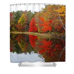 Autumn Lake, Nova Scotia Shower Curtain