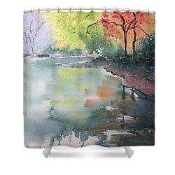 Autumn Lake Shower Curtain by Yohana Knobloch