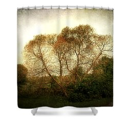 Shower Curtain featuring the photograph Autumn Landscape by Cynthia Lassiter