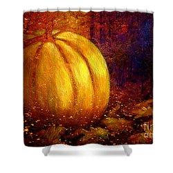 Autumn Landscape Painting Shower Curtain