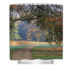 Autumn Landscape With Colored Trees In Park, Netherlands Shower Curtain