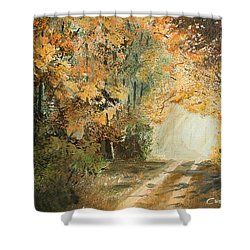 Autumn Lane Shower Curtain