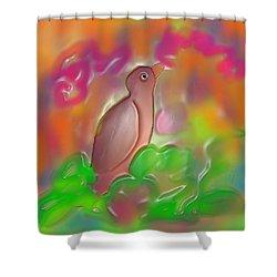 Autumn Shower Curtain by Latha Gokuldas Panicker