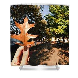 Autumn Leaf Shower Curtain