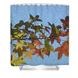 Shower Curtain featuring the photograph Autumn Leaves 3 by Jean Bernard Roussilhe