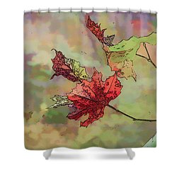 Shower Curtain featuring the photograph Autumn Leaves - Abstract Art by Kerri Farley