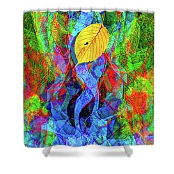 Autumn Leaves Abstract Shower Curtain