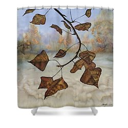 Autumn Leaves Shower Curtain by Carolyn Doe