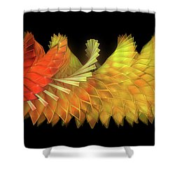 Autumn Leaves - Composition 2.2 Shower Curtain