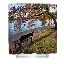 Autumn Leaves In Dc Shower Curtain