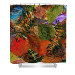 Shower Curtain featuring the digital art Autumn Leaves by Klara Acel