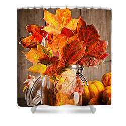 Autumn Leaves Still Life Shower Curtain by Amanda Elwell