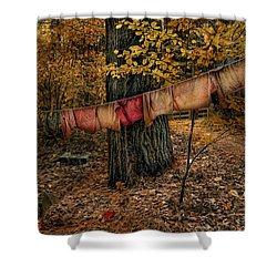 Shower Curtain featuring the photograph Autumn Linens by Robin-Lee Vieira