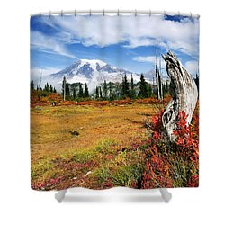 Autumn Majesty Shower Curtain by Mike  Dawson