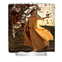Shower Curtain featuring the digital art Autumn by Methune Hively