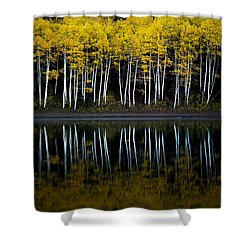 Shower Curtain featuring the photograph Autumn Mirror by Dustin  LeFevre
