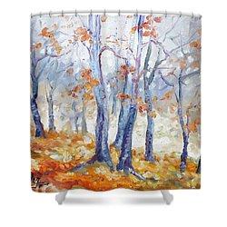 Autumn Mist - Morning Shower Curtain by Irek Szelag
