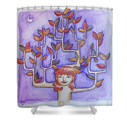 Autumn Moon Shower Curtain by Whitney Morton