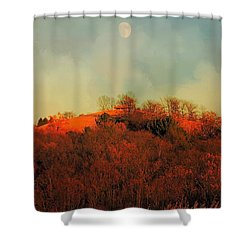 Autumn Moonrise Shower Curtain