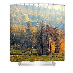 Autumn Morning Shower Curtain by Henryk Gorecki