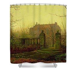 Autumn Morning Shower Curtain by John Atkinson Grimshaw