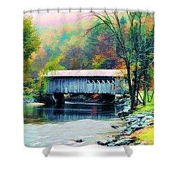 Autumn Morning Mist 2 Shower Curtain by Dan Dooley