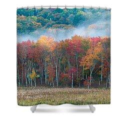 Autumn Morning Mist Shower Curtain