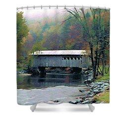 Autumn Morning Mist Shower Curtain by Dan Dooley