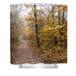 Autumn Morning Shower Curtain by Ricky Dean