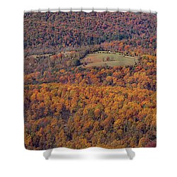 Autumn Mountain Side Shower Curtain