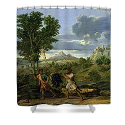 Autumn Shower Curtain by Nicolas Poussin
