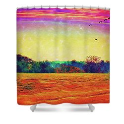 Autumn On Earth Two Shower Curtain