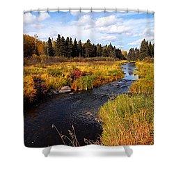 Autumn On Jackfish Creek Shower Curtain