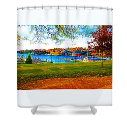 Autumn On Lake Charlevoix Shower Curtain