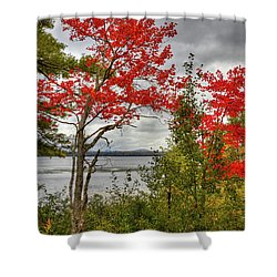 Shower Curtain featuring the photograph Autumn On Raquette Lake by David Patterson