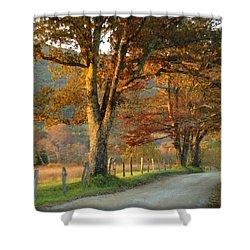 Autumn On Sparks Lane Shower Curtain