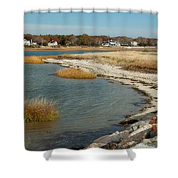 Autumn On The Bass River II Shower Curtain by Michelle Wiarda