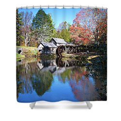 Autumn On The Blue Ridge Parkway At Mabry Mill Shower Curtain by Nature Scapes Fine Art