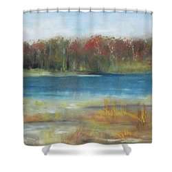 Autumn On The Maurice River Shower Curtain