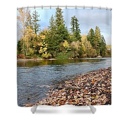Autumn On The Molalla Shower Curtain