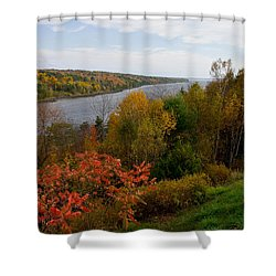 Autumn On The Penobscot Shower Curtain by Brent L Ander